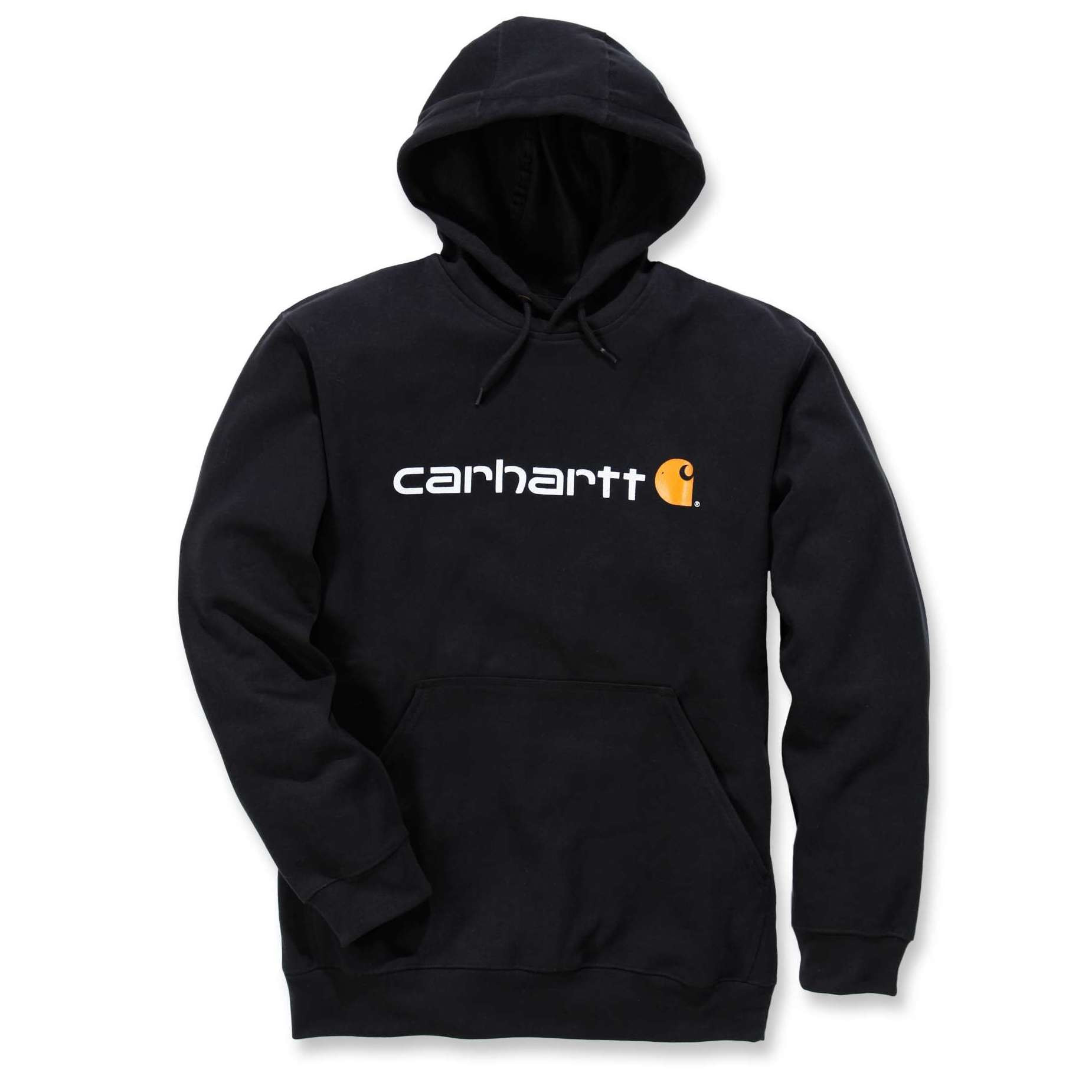 Худи Carhartt Signature Logo Hooded Sweatshirt - 100074 (Black; XS)