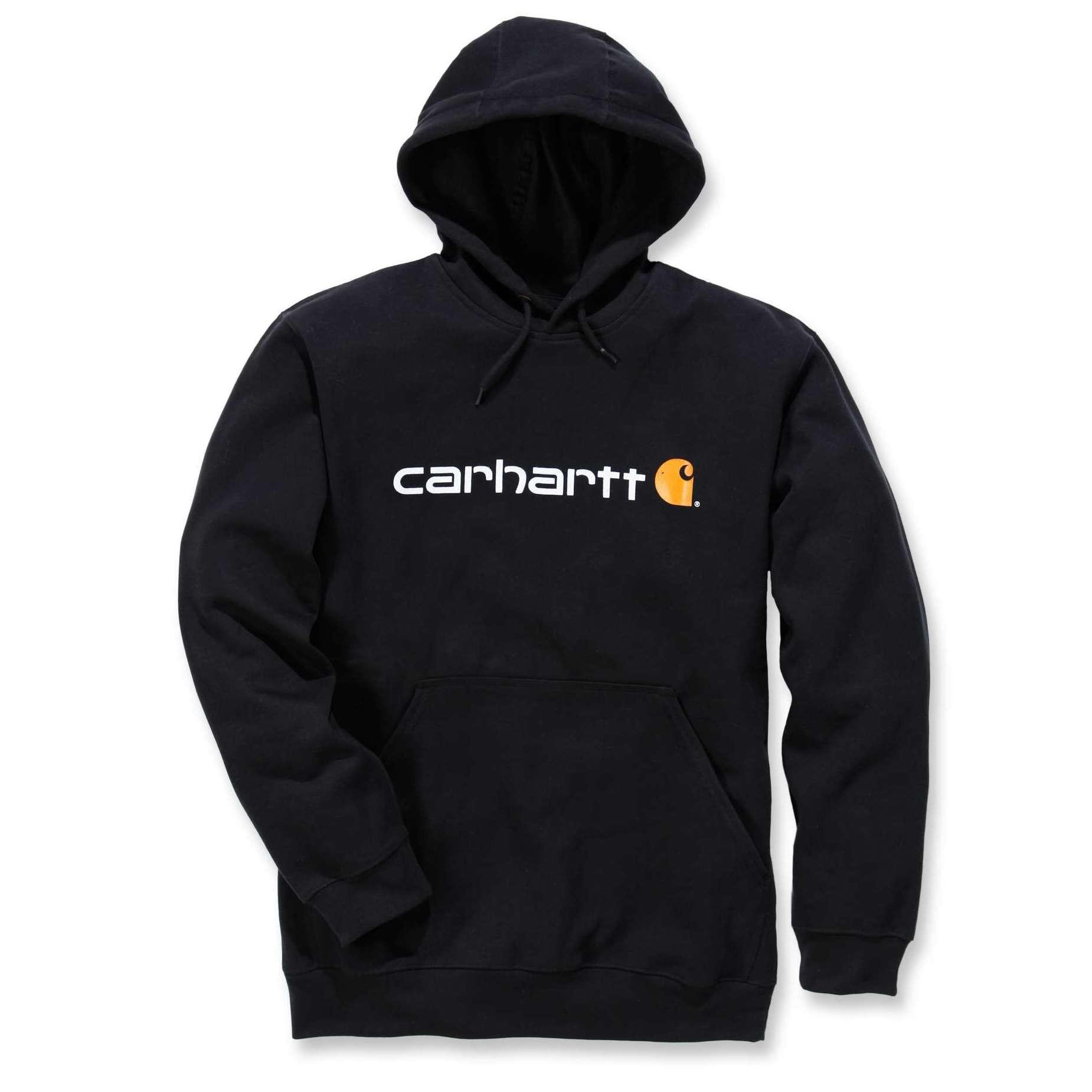 Худи Carhartt Signature Logo Hooded Sweatshirt - 100074 (Black; S)