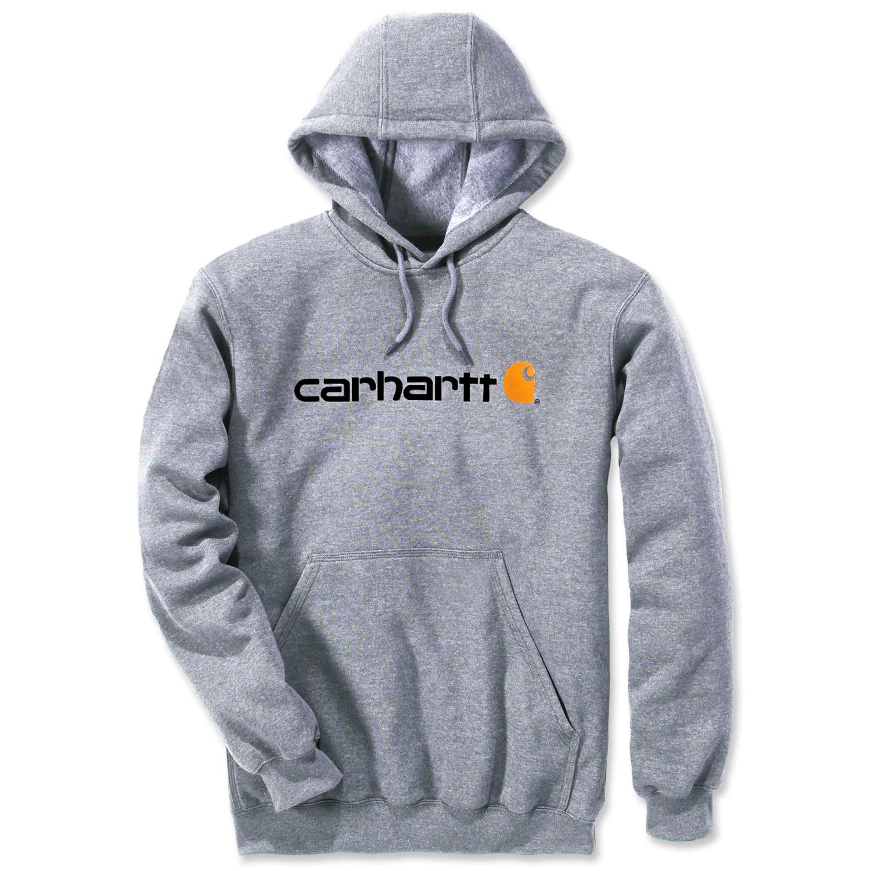 Худи Carhartt Signature Logo Hooded Sweatshirt - 100074 (Heather Grey, XS)