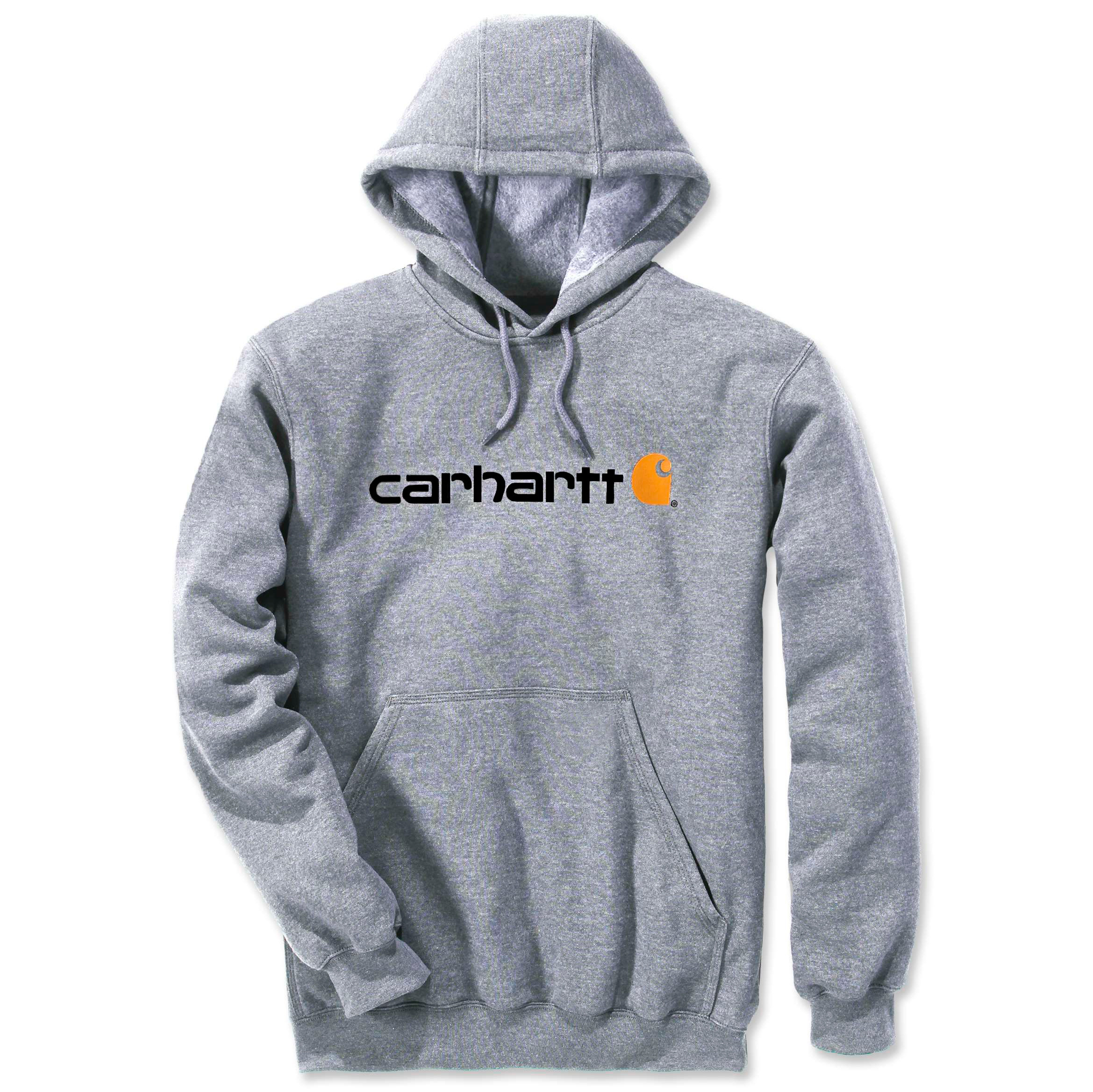 Худи Carhartt Signature Logo Hooded Sweatshirt - 100074 (Heather Grey, L)