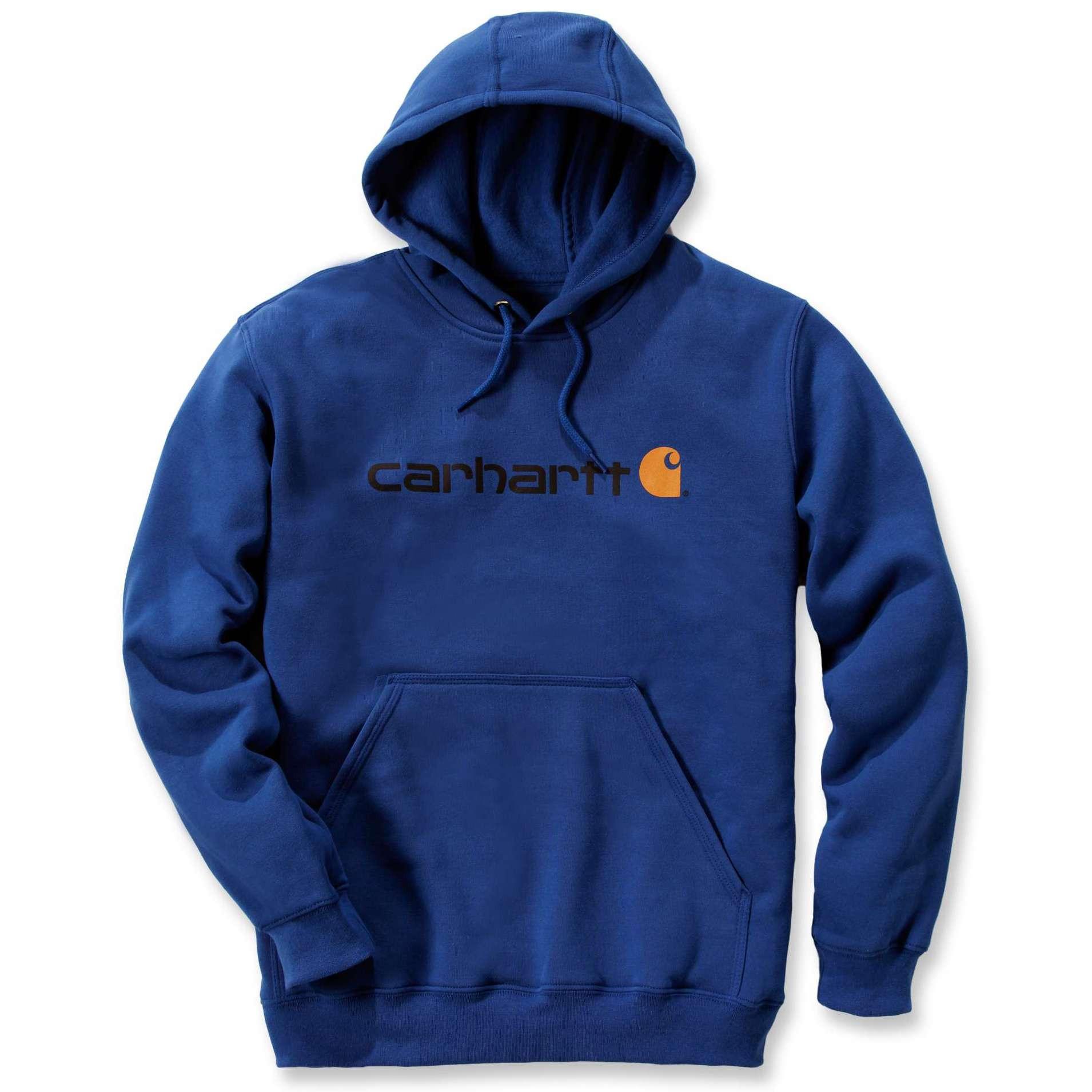 Худи Carhartt Signature Logo Hooded Sweatshirt - 100074 (New Navy; S)