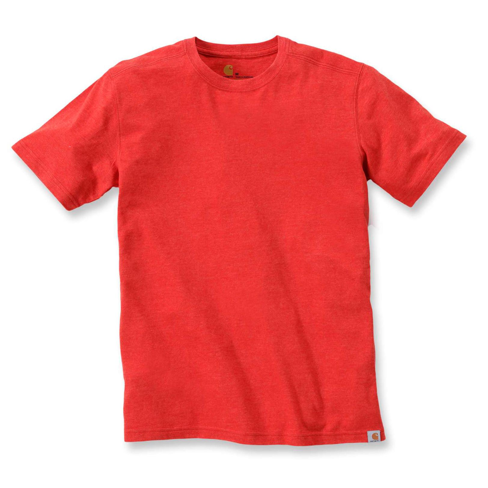 Футболка Carhartt Maddock T-Shirt S/S - 101124 (Chili Heather, S)
