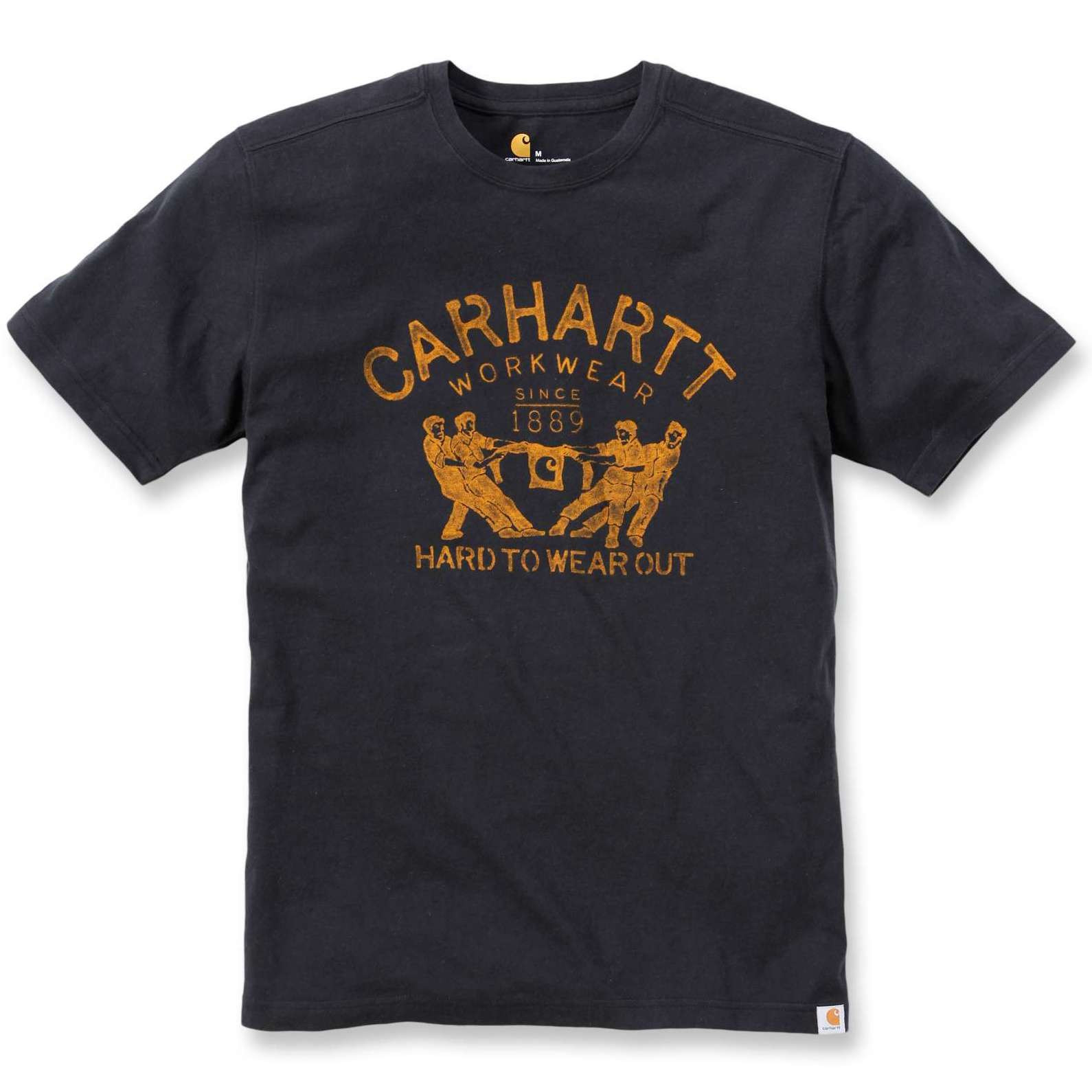 Футболка Carhartt Hard To Wear Out Graphic T-Shirt S/S - 102097 (Black, XS)