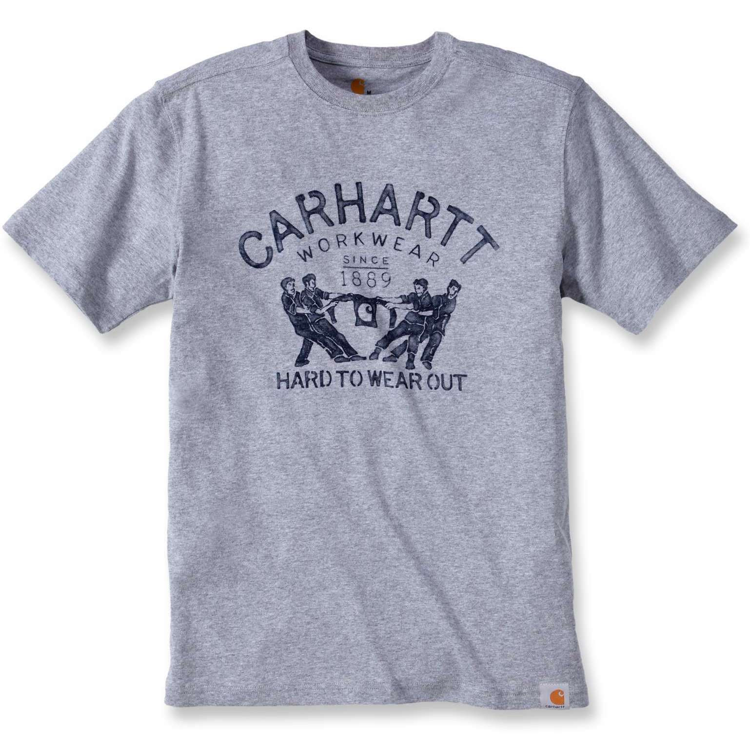 Футболка Carhartt Hard To Wear Out Graphic T-Shirt S/S - 102097 (Heather Grey, XS)
