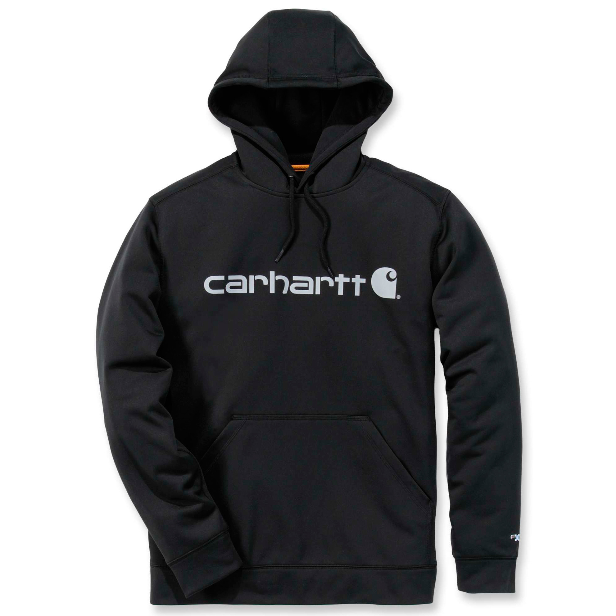 Худи Carhartt Force Extremes Logo Hooded Sweatshirt - 102314 (Black/Coal; S)