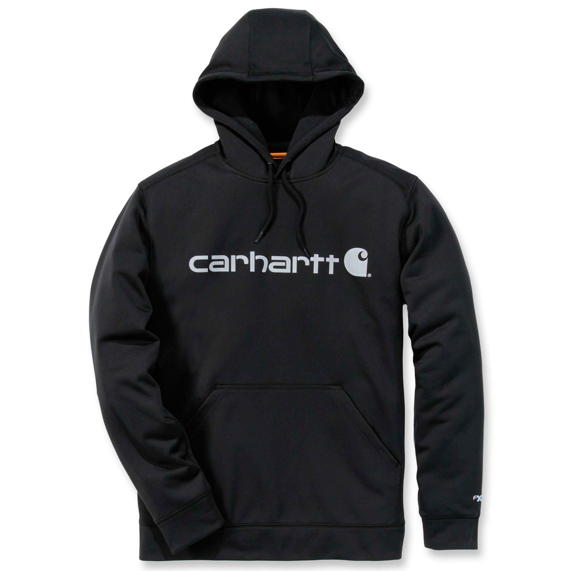 Худи Carhartt Force Extremes Logo Hooded Sweatshirt - 102314 (Black/Coal; M)
