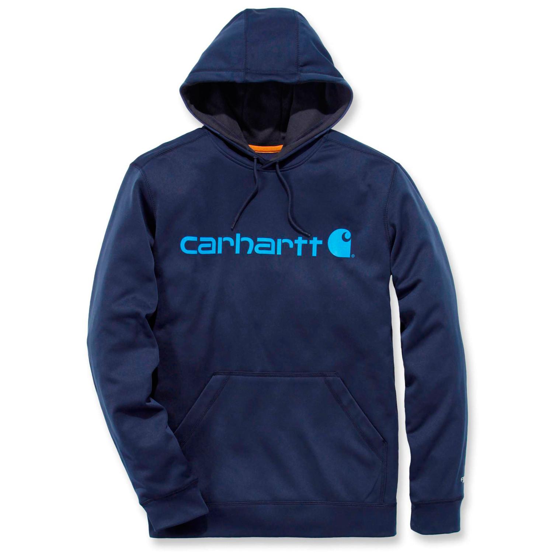 Худи Carhartt Force Extremes Logo Hooded Sweatshirt - 102314 (Navy; S)