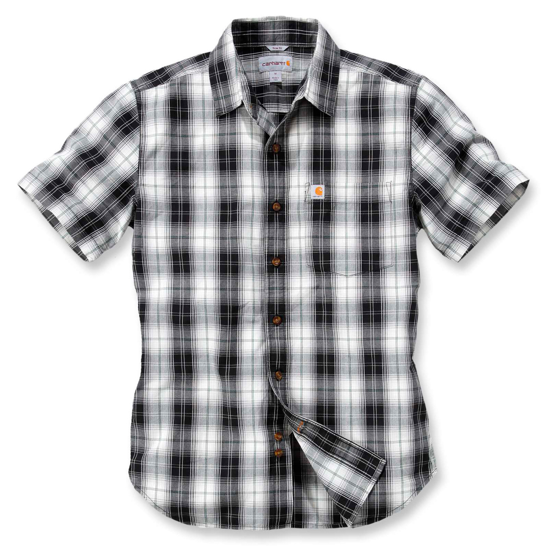 Рубашка с коротким рукавом Carhartt Slim Fit Plaid Shirt S/S - 102548 (Black, S)
