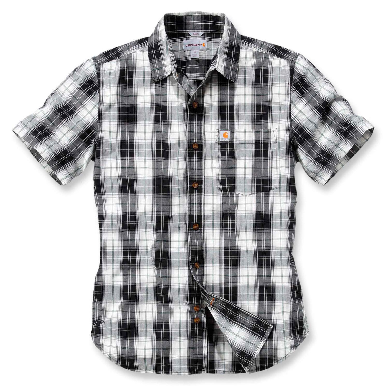 Рубашка с коротким рукавом Carhartt Slim Fit Plaid Shirt S/S - 102548 (Black, M)
