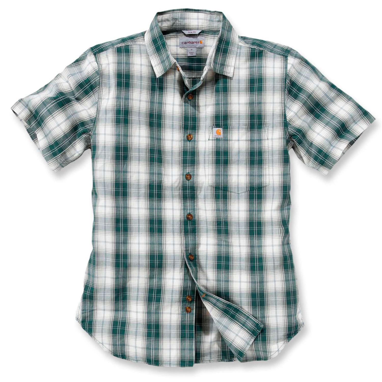 Рубашка с коротким рукавом Carhartt Slim Fit Plaid Shirt S/S - 102548 (Hunter Green, S)