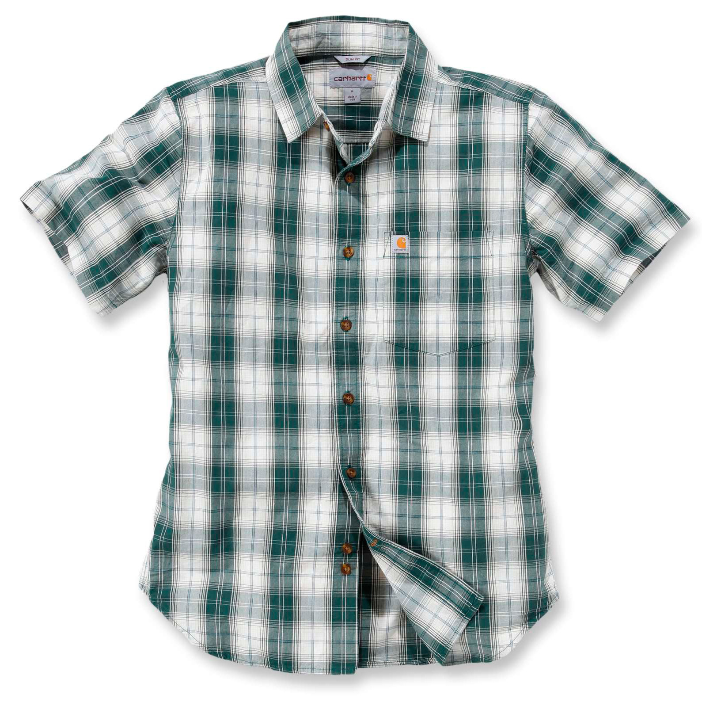 Рубашка с коротким рукавом Carhartt Slim Fit Plaid Shirt S/S - 102548 (Hunter Green)