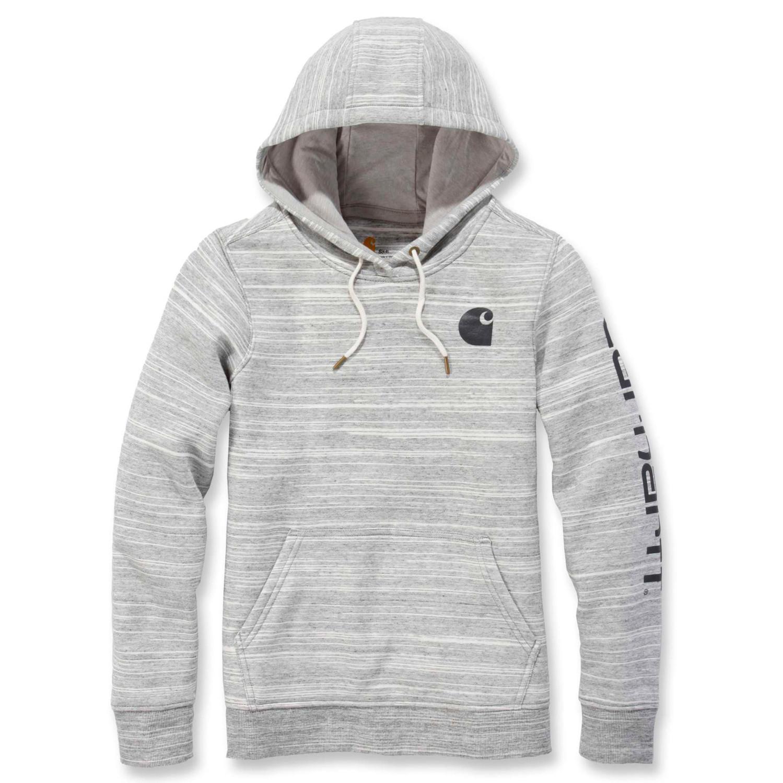 Худи женское Carhartt Clarksburg Pullover Sweatshirt - 102791 (Shadow Space Dye, XS)
