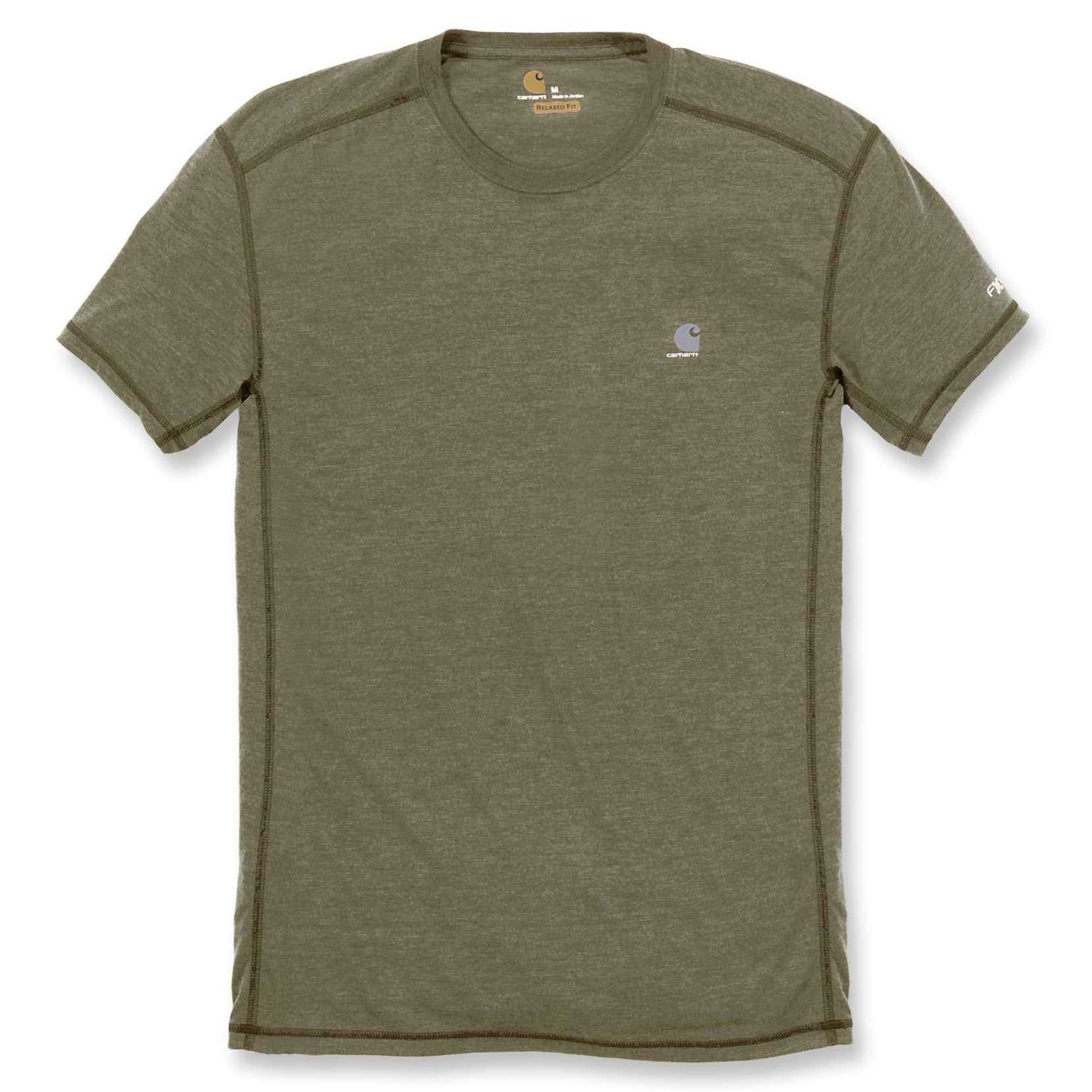 Футболка Carhartt Force Extremes T-Shirt S/S - 102960 (Burnt Olive Heather; S)