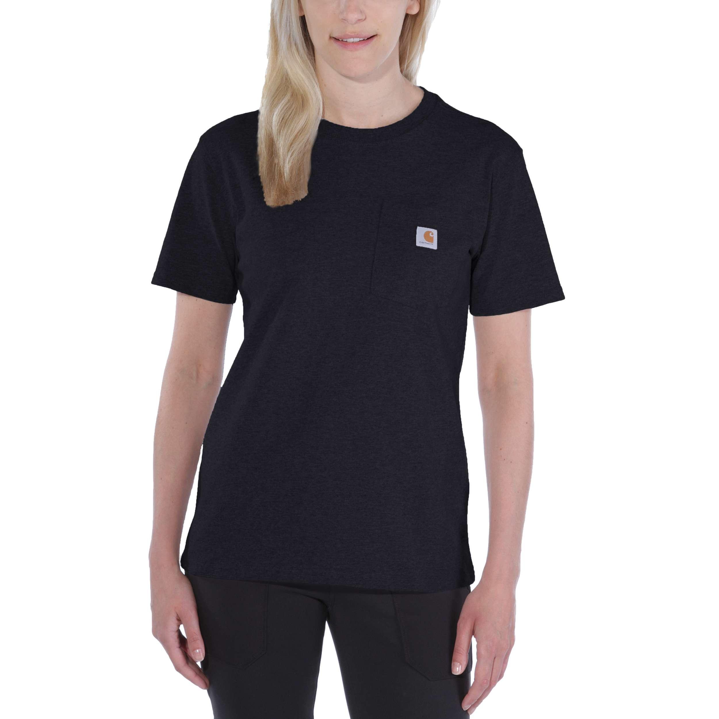 Футболка женская Carhartt WK87 Workwear Pocket T-Shirt - 103067 (Black, XS)