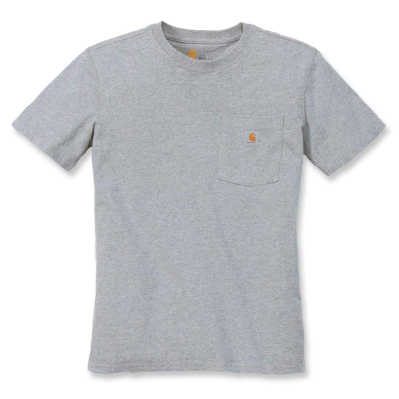 Футболка женская Carhartt WK87 Workwear Pocket T-Shirt - 103067 (Heather Grey, S)