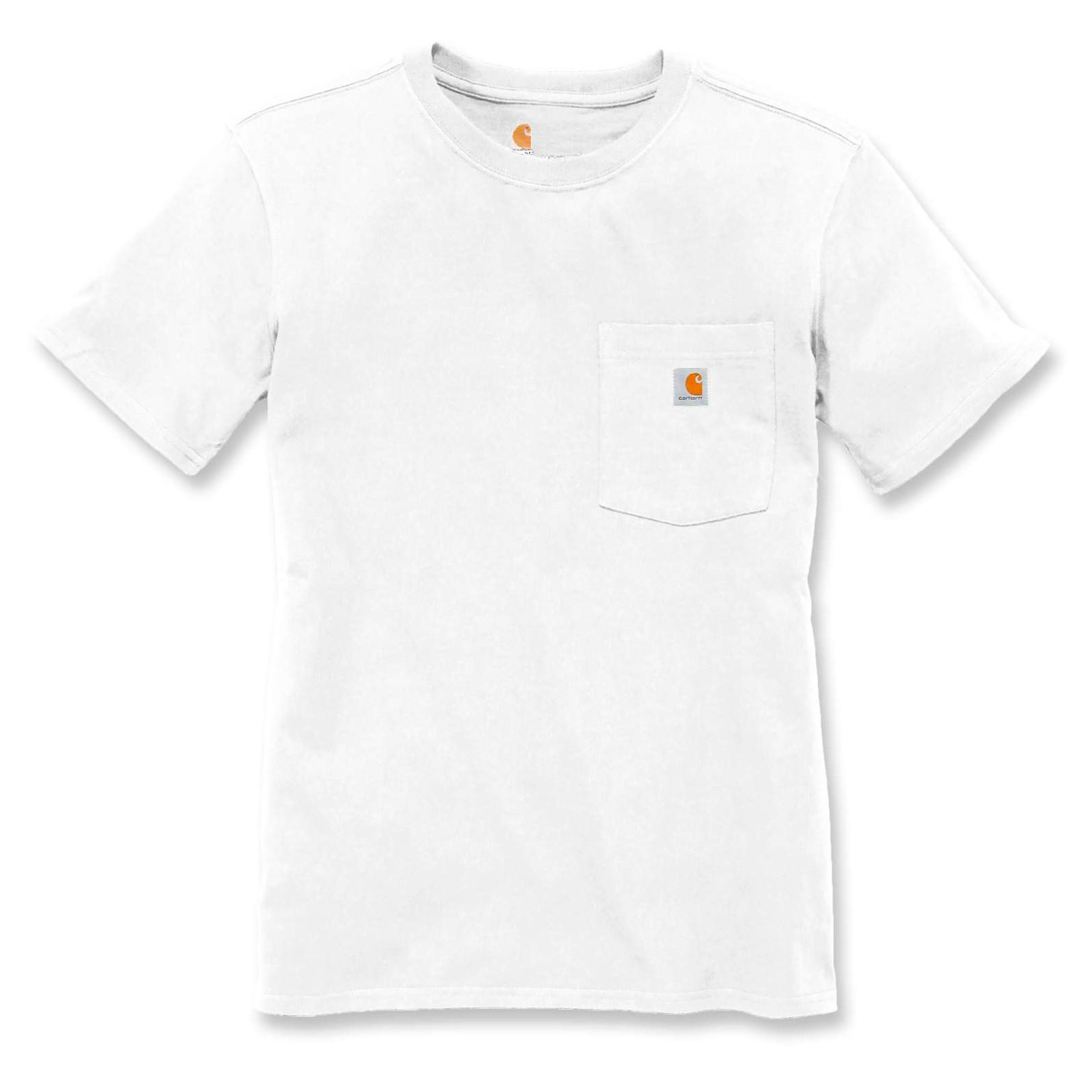 Футболка женская Carhartt WK87 Workwear Pocket T-Shirt - 103067 (White, S)
