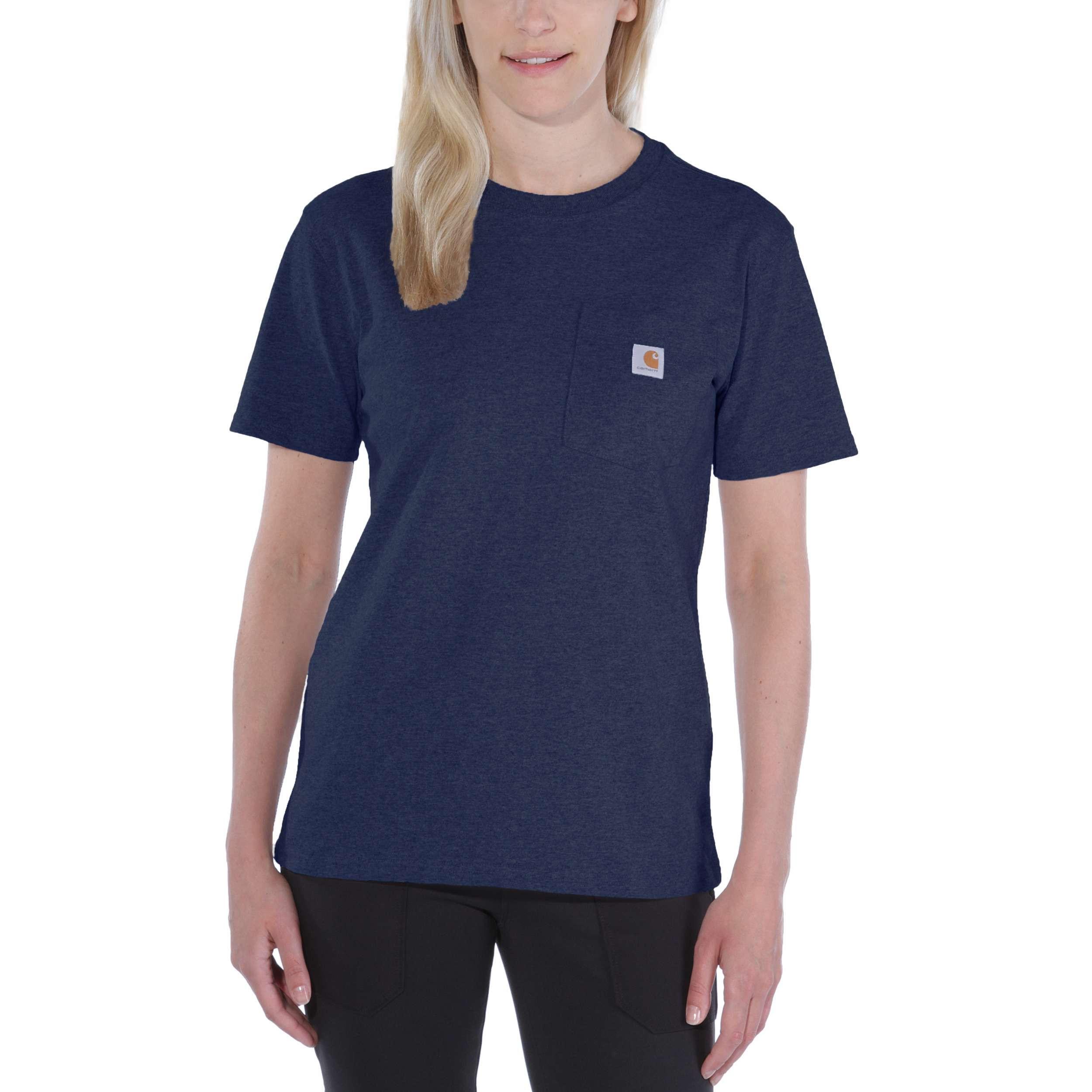 Футболка женская Carhartt WK87 Workwear Pocket T-Shirt - 103067 (Navy, XS)