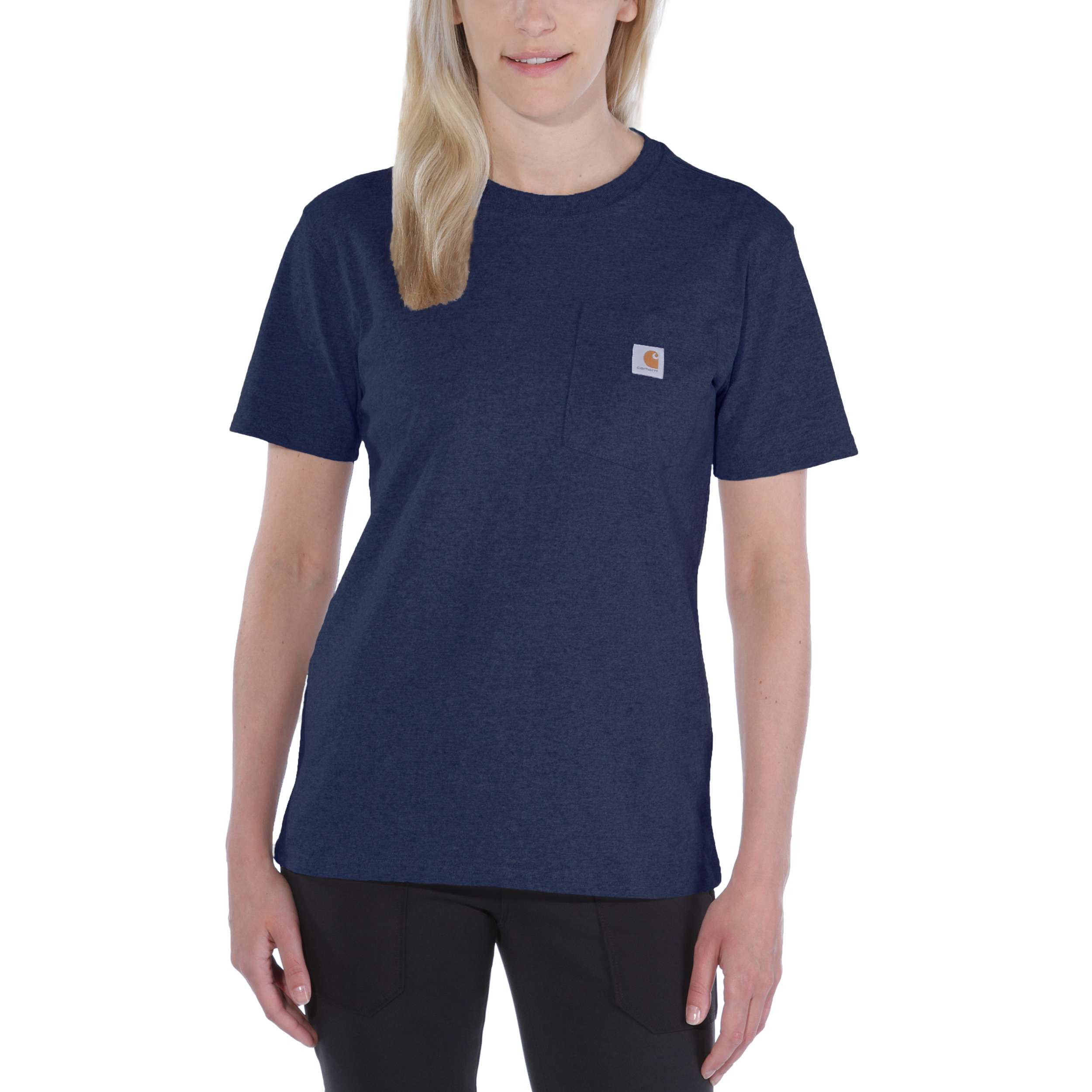 Футболка женская Carhartt WK87 Workwear Pocket T-Shirt - 103067 (Navy, S)
