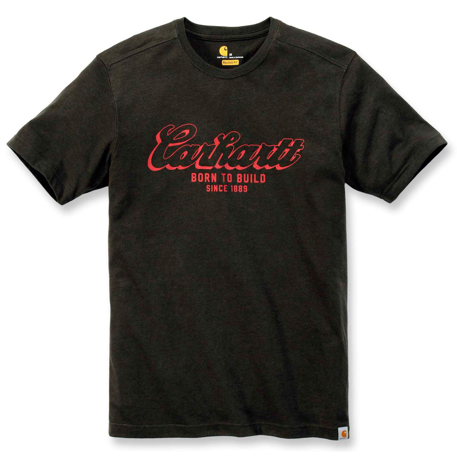Футболка Carhartt Born To Build Graphic T-Shirt - 103563 (Peat Heather, S)