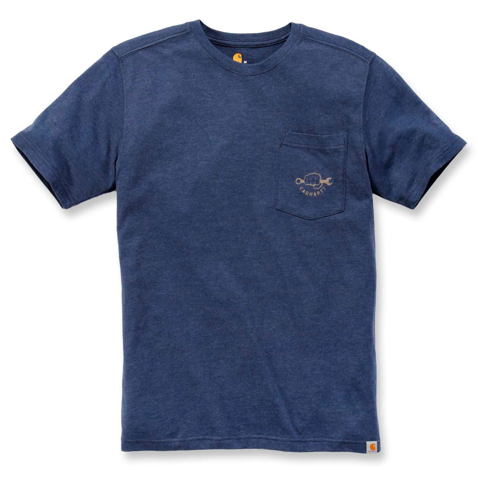 Футболка Carhartt Maddock Strong Graphic S/S T-Shirt - 103565 (Indigo Heather)