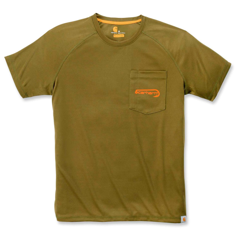 Футболка Carhartt Fishing T-Shirt S/S - 103570 (Military Olive, XS)