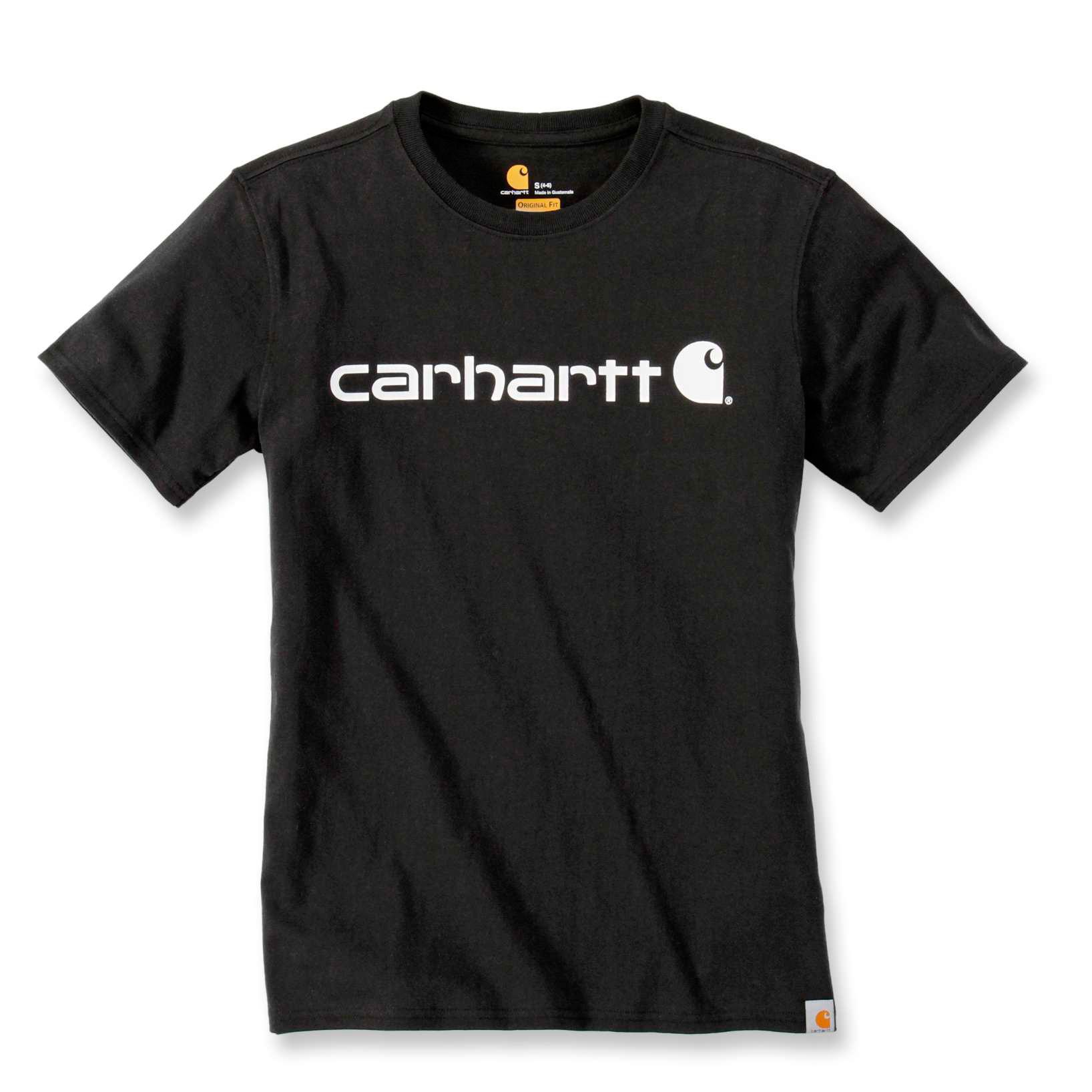 Футболка женская Carhartt WK195 Workwear Logo Graphic S/S T-Shirt - 103592 (Black, XS)