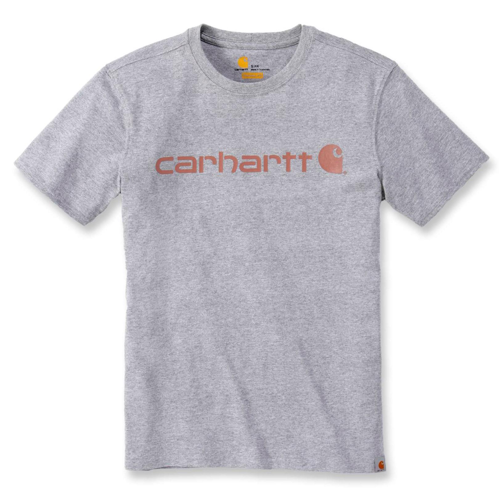 Футболка женская Carhartt WK195 Workwear Logo Graphic S/S T-Shirt - 103592 (Heather Grey, M)