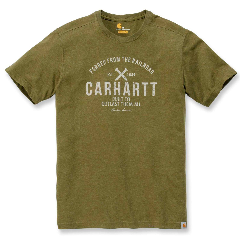 Футболка Carhartt Emea Outlast Graphic S/S - 103658 (Cargo Green, XS)