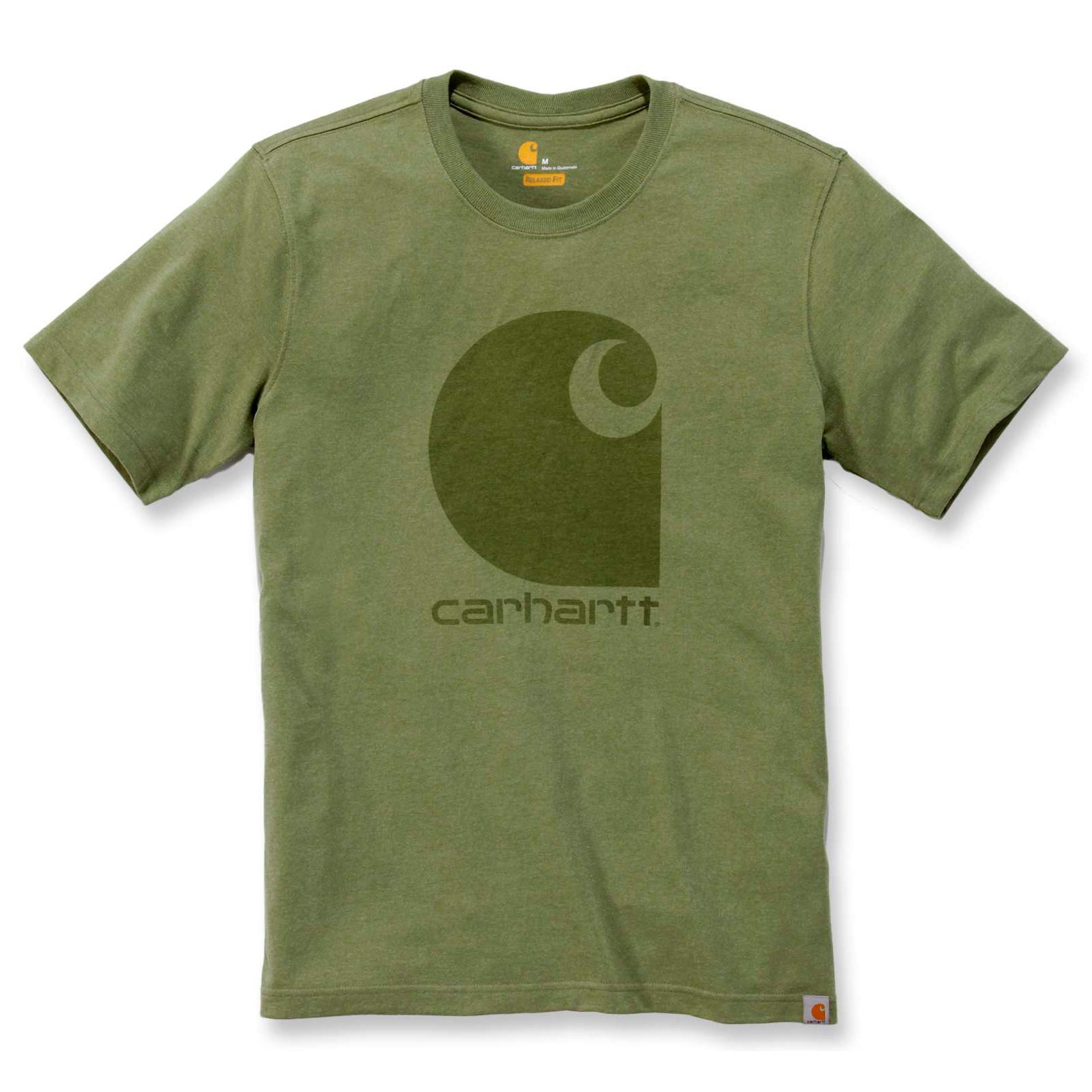 Футболка Carhartt Workwear C-Logo Graphic S/S T-Shirt - 103666 (Oil Green Heather)
