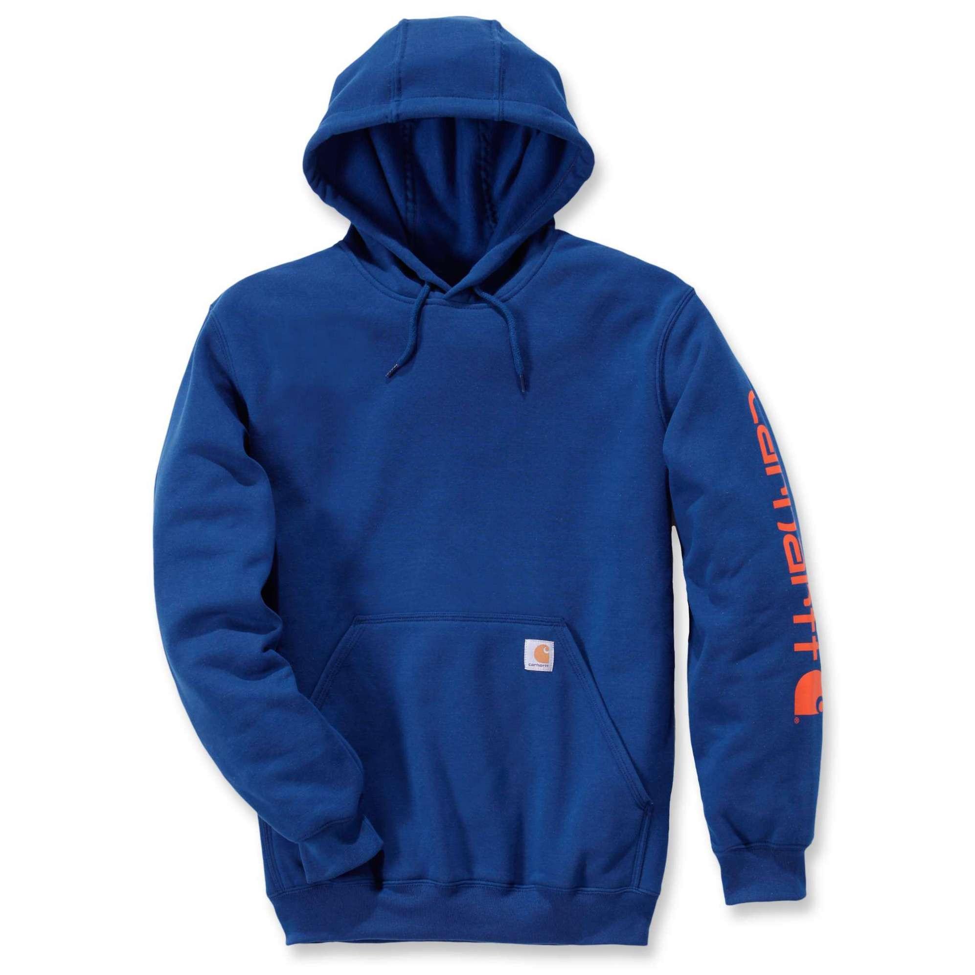 Худи Carhartt Sleeve Logo Hooded Sweatshirt - K288 (Superior Blue, XS)