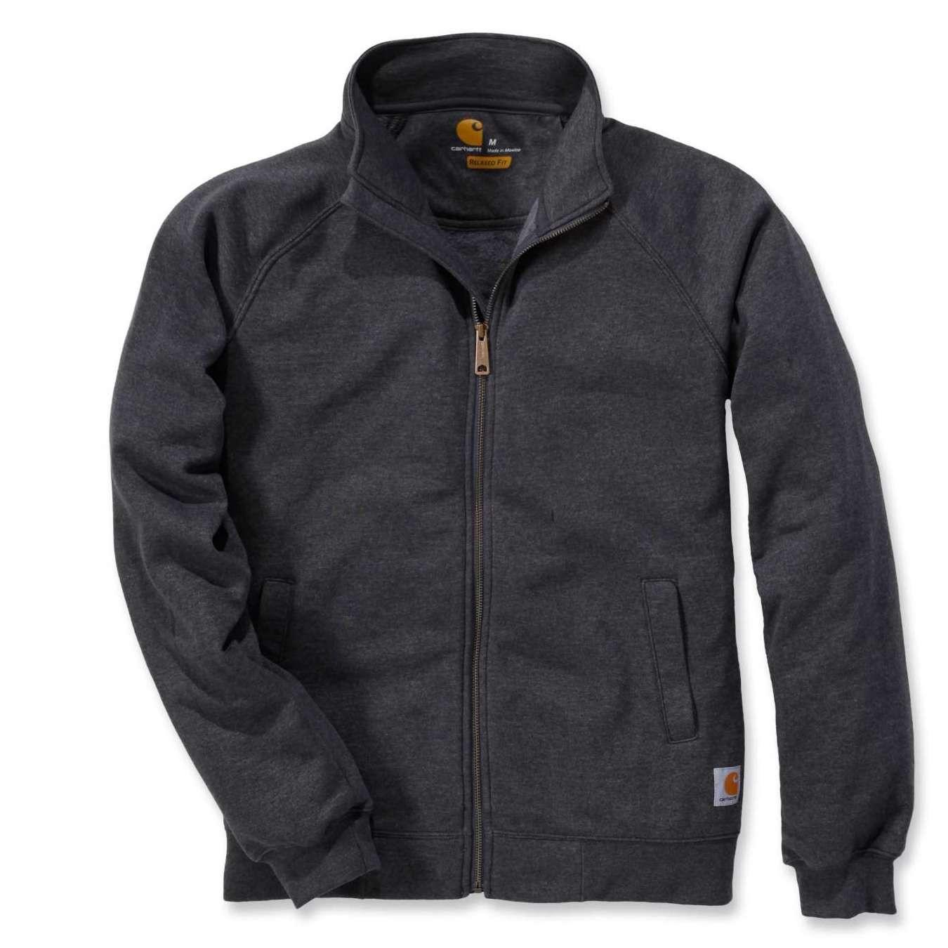 Свитшот на молнии Carhartt Midweight Mock Neck Zip Sweatshirt - K350 (Carbon Heather, XS)