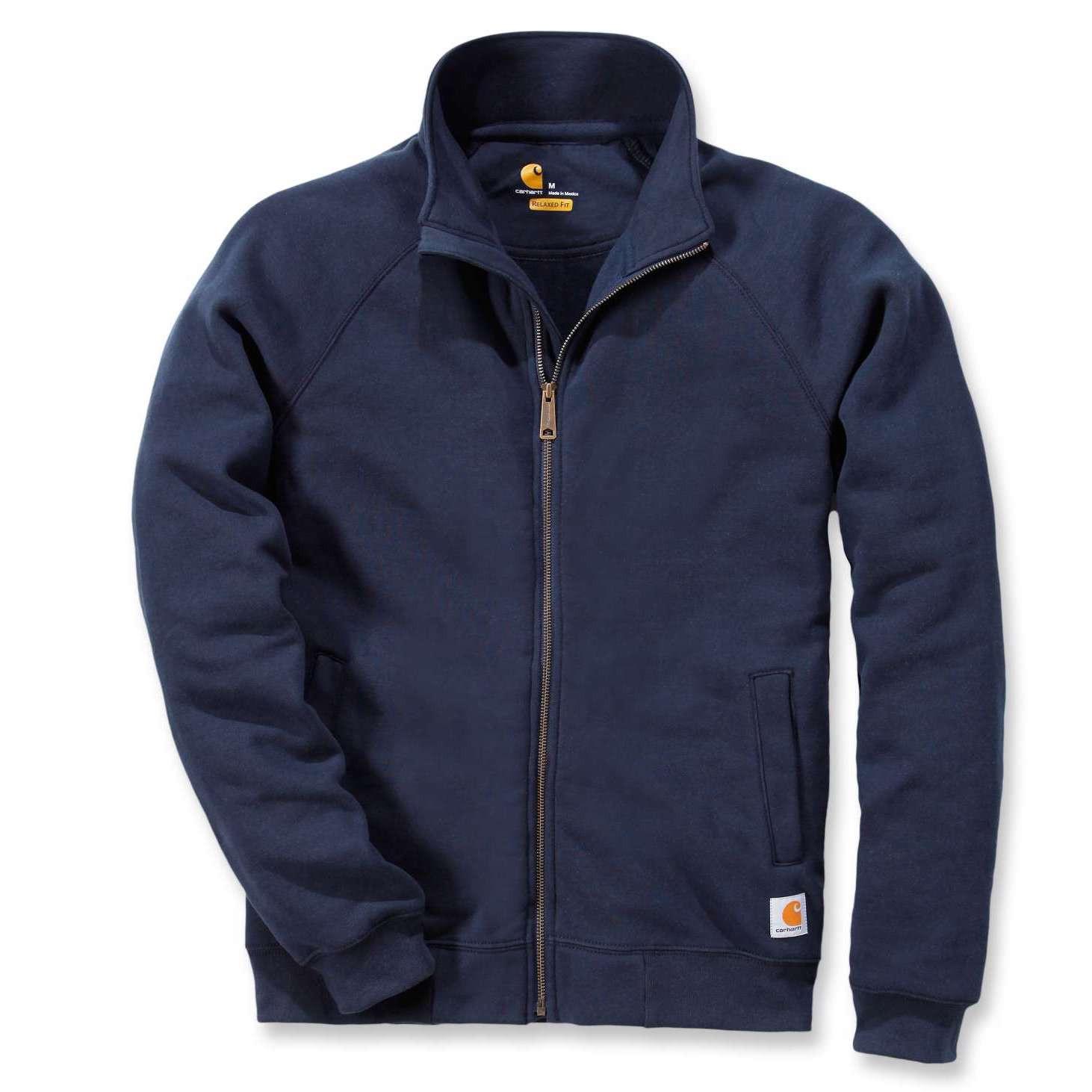 Свитшот на молнии Carhartt Midweight Mock Neck Zip Sweatshirt - K350 (New Navy, XS)