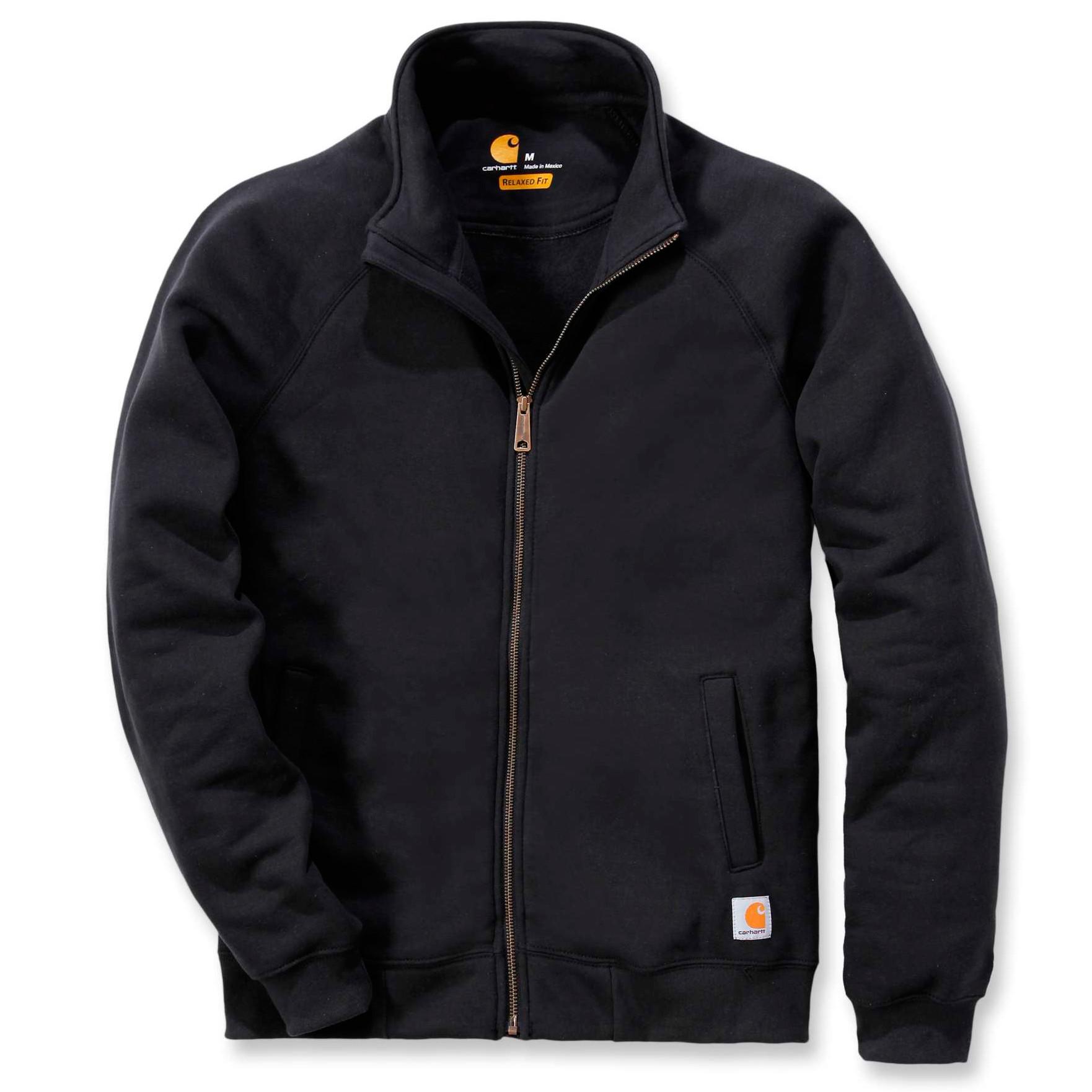Свитшот на молнии Carhartt Midweight Mock Neck Zip Sweatshirt - K350 (Black)