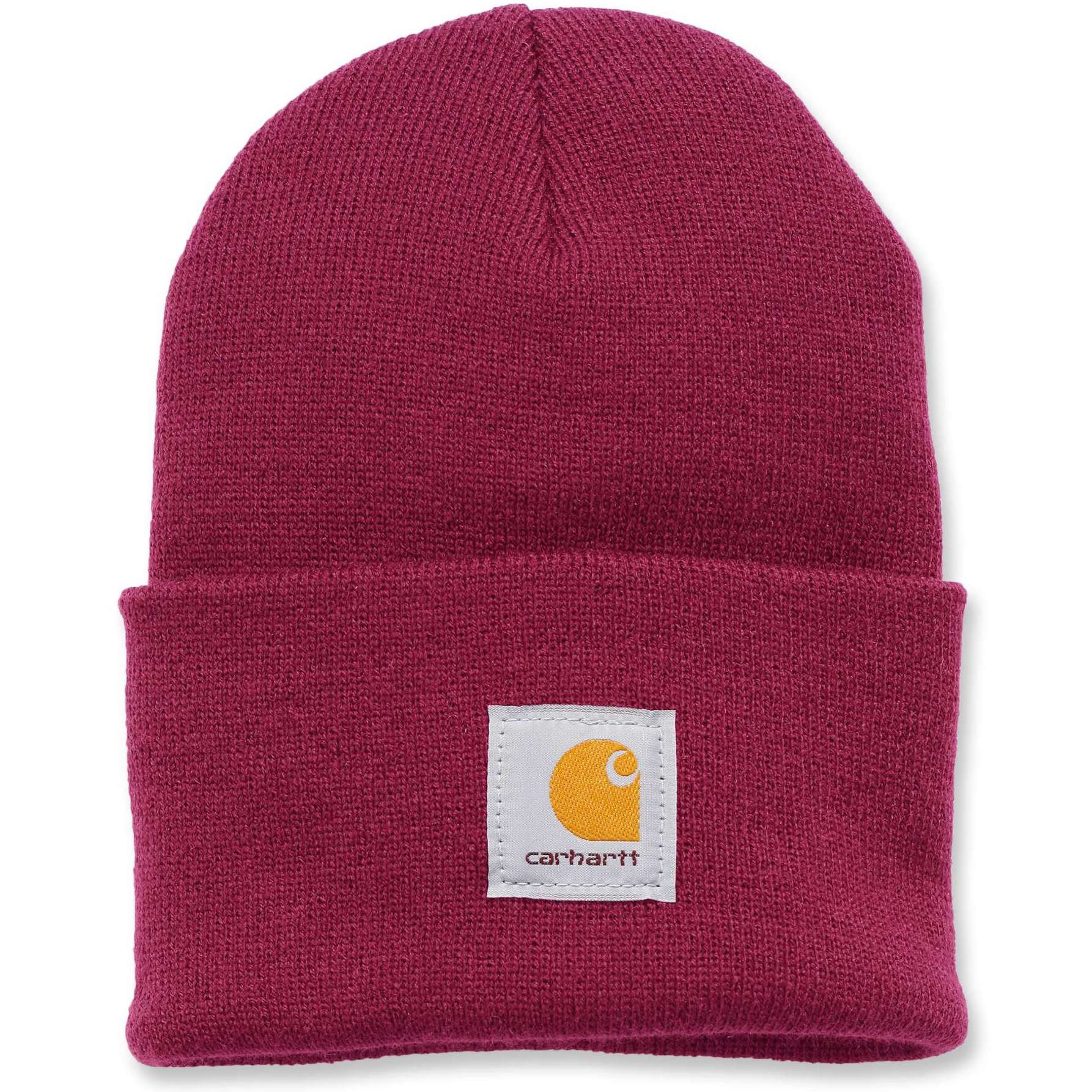 Шапка Carhartt Acrylic Watch Hat - WA018 (Raspberry, OFA)