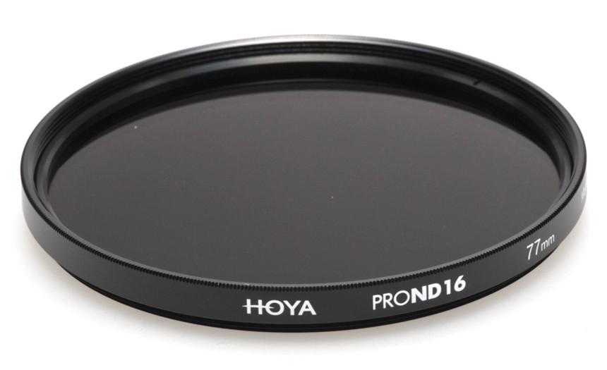 Фильтр нейтрально-серый Hoya Pro ND 16 (4 стопа) 77 мм