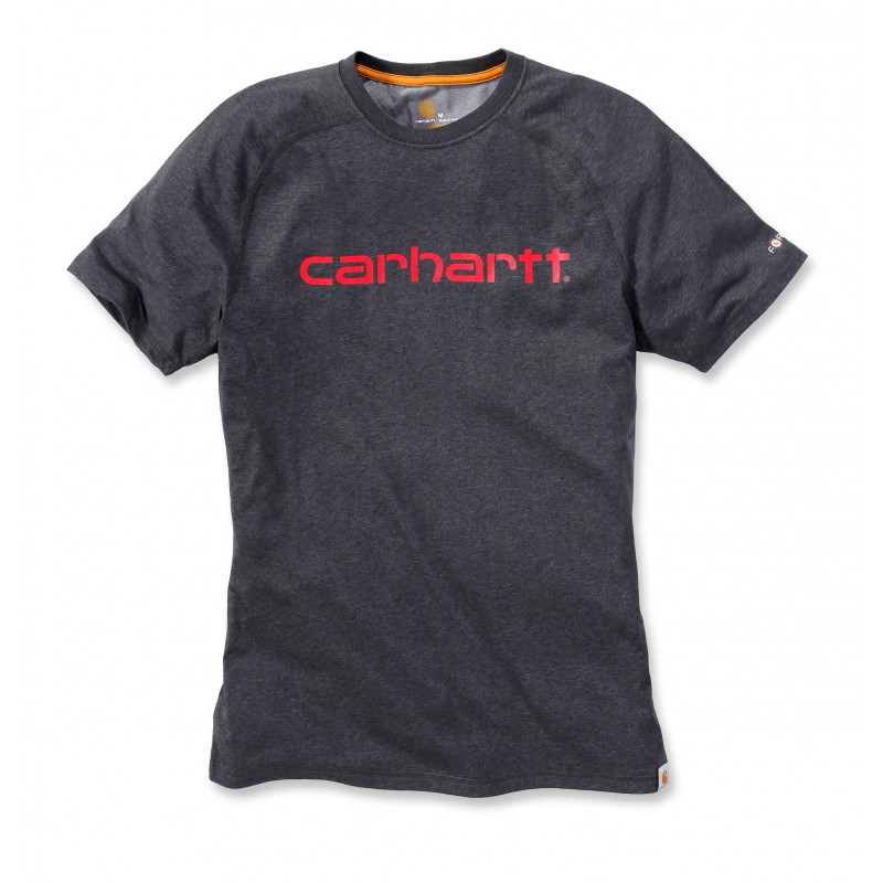Футболка Carhartt Force Delmont Graphic T-Shirt S/S - 102549 (Carbon Heather, S)