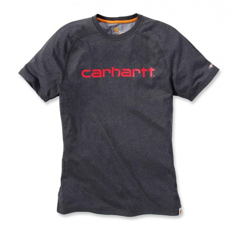 Футболка Carhartt Force Delmont Graphic T-Shirt S/S - 102549 (Carbon Heather, M)