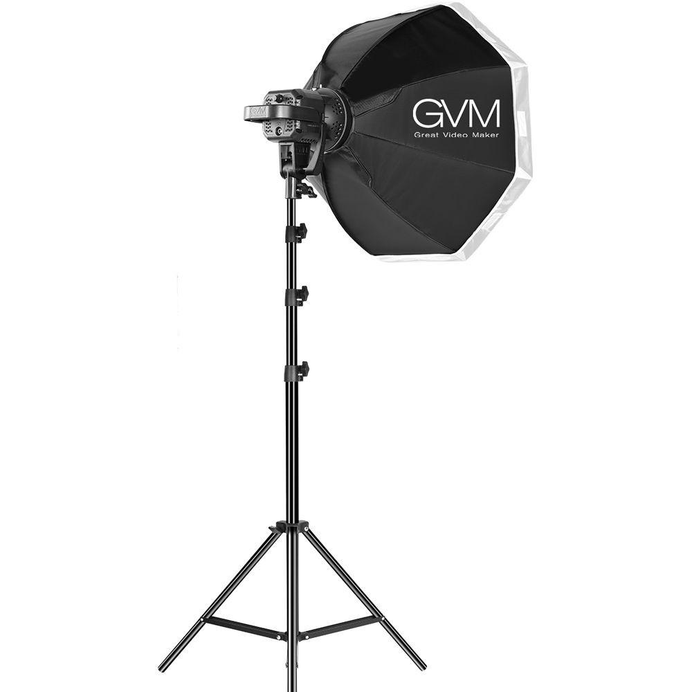 Набор постоянного LED видеосвета GVM P80S 80W (5600К) x2 с софтбоксами