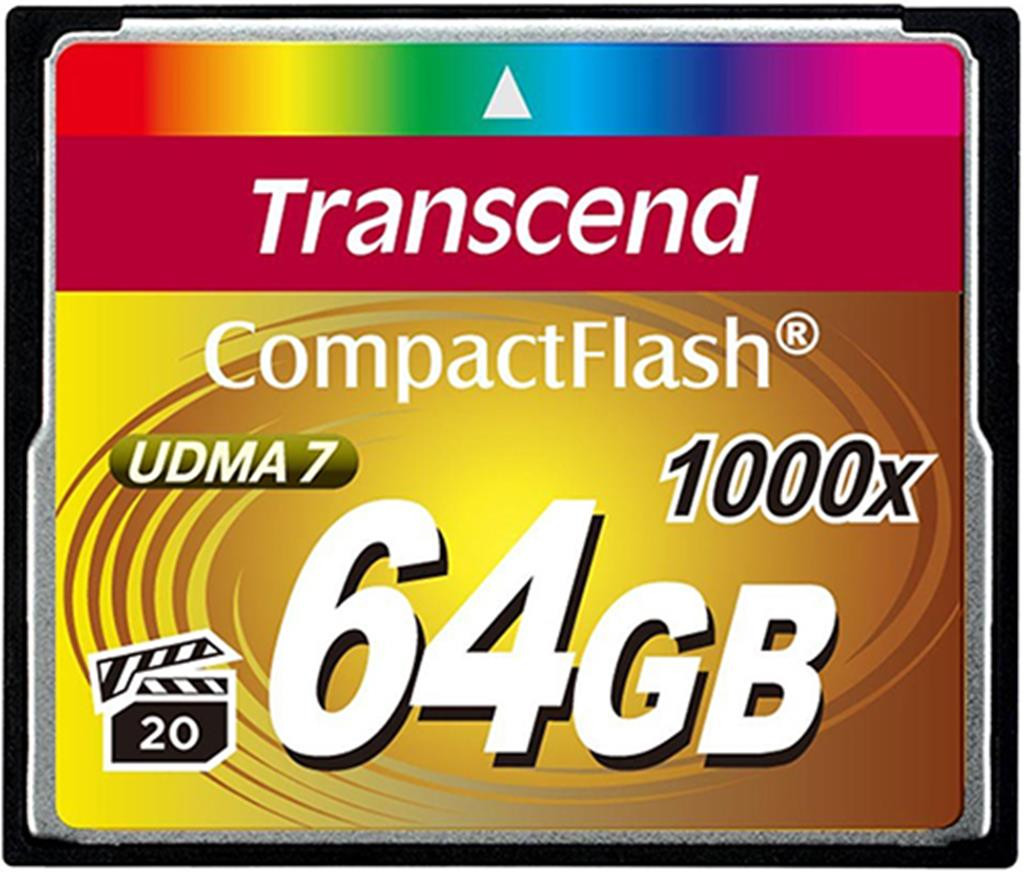 Карта памяти Transcend CF 64GB x1000 (TS64GCF1000)