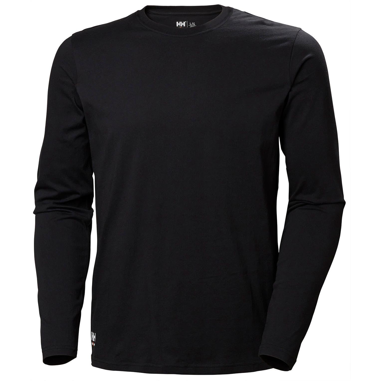 Футболка с длинным рукавом Helly Hansen Manchester Long Sleeve - 79169 (Black; S)