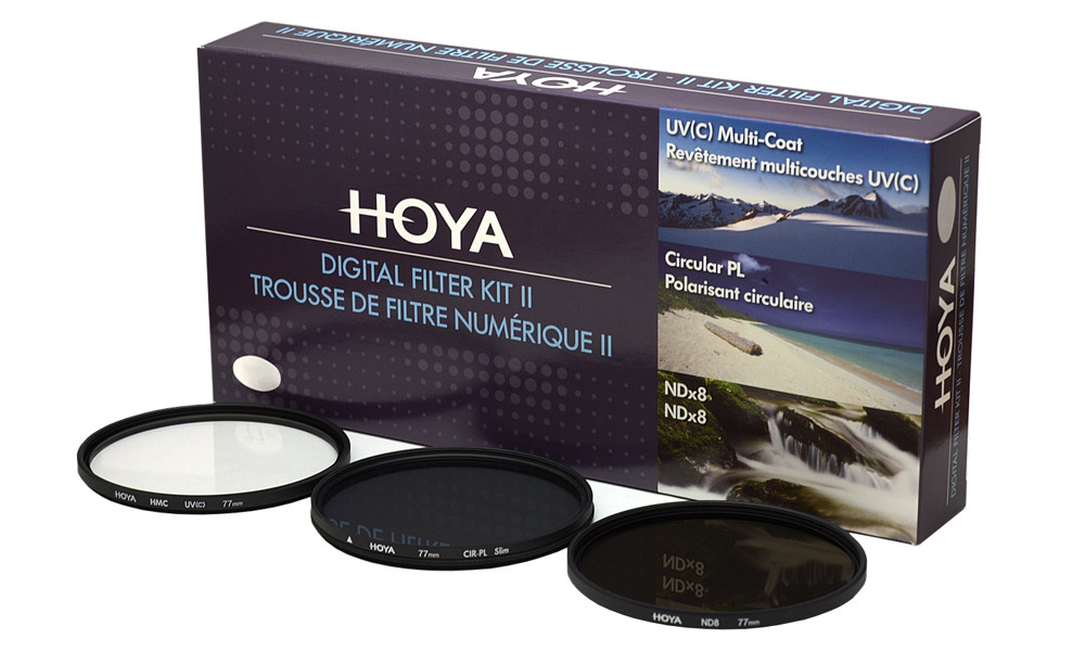 Набор фильтров (UV, Pol, NDx8) Hoya Digital Filter Kit II 77 мм