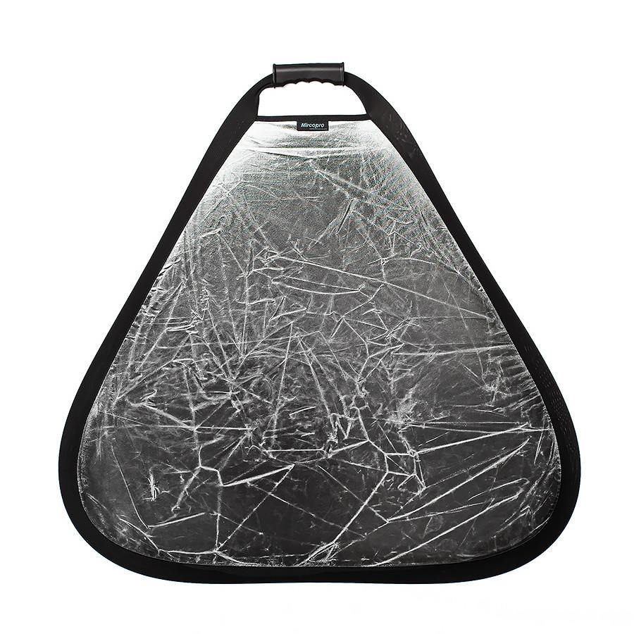 Отражатель 2в1 треугольный Mircopro TR-052 серебро,белый 80 см