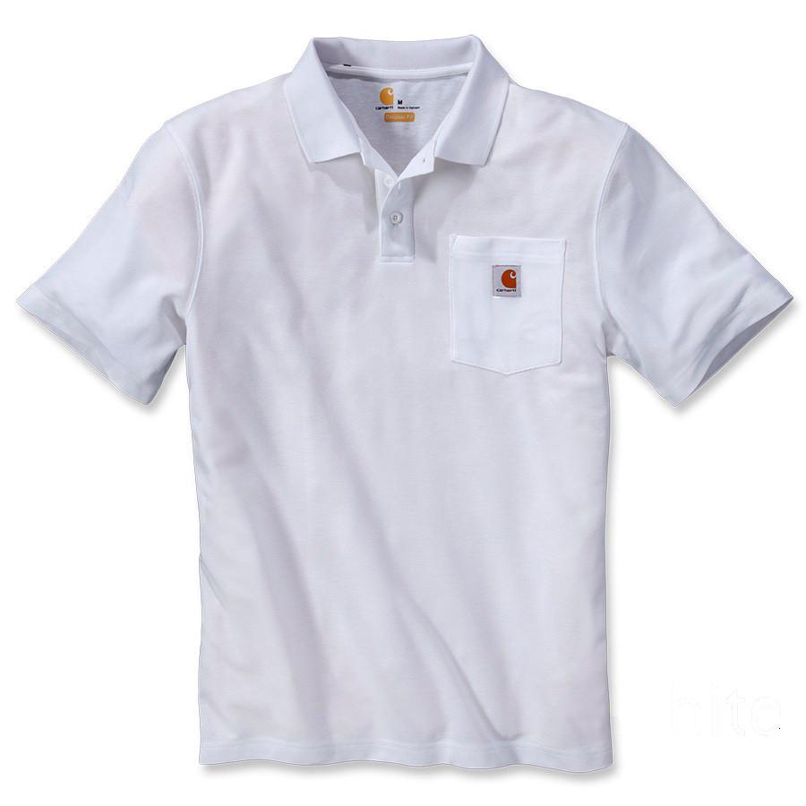 Поло Carhartt Work Pocket Polo S/S - K570 (White, XL)