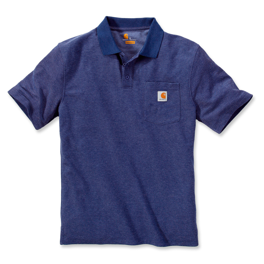 Поло Carhartt Work Pocket Polo S/S - K570 (D.Cobalt B.Heather, XL)
