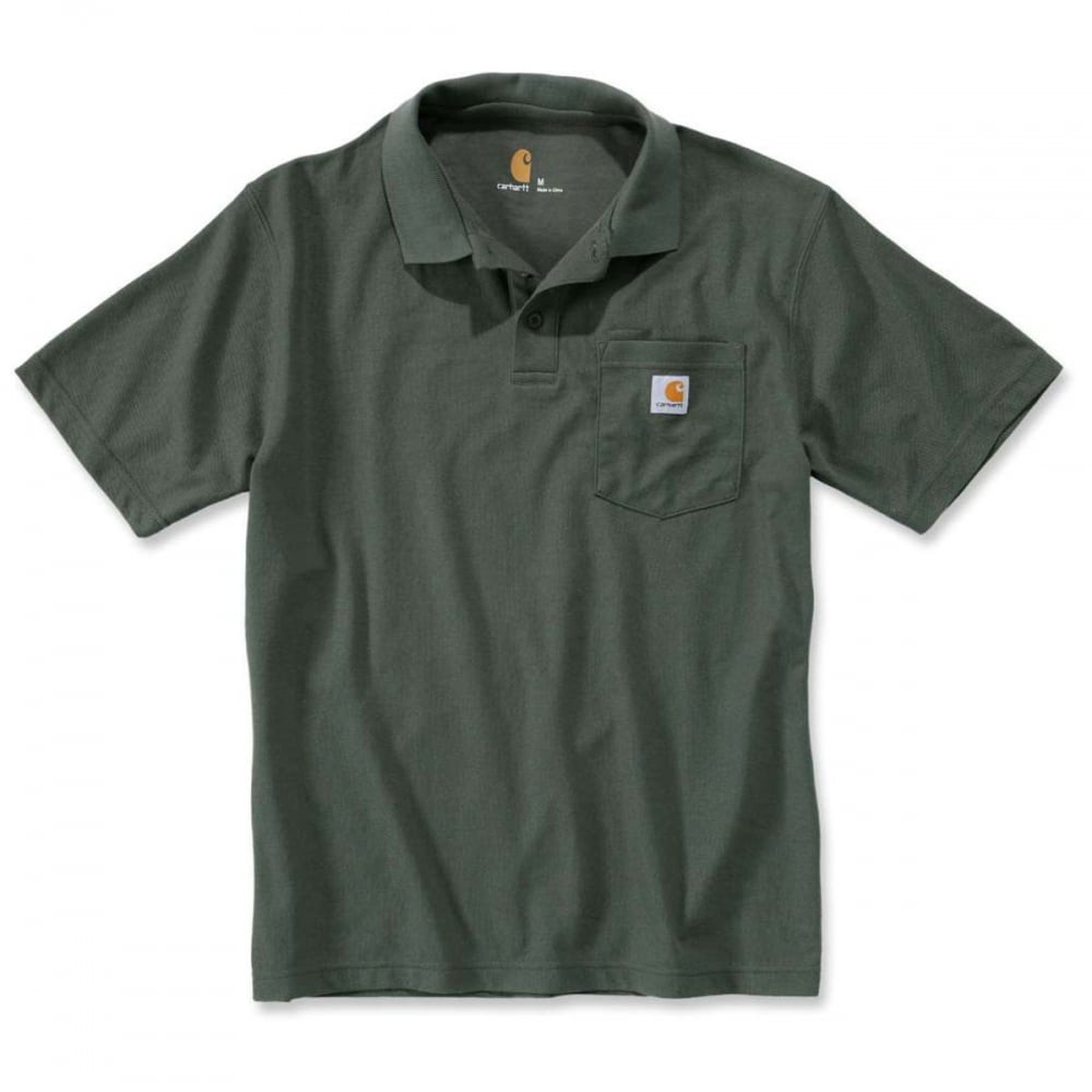 Поло Carhartt Work Pocket Polo S/S - K570 (Moss, XL)