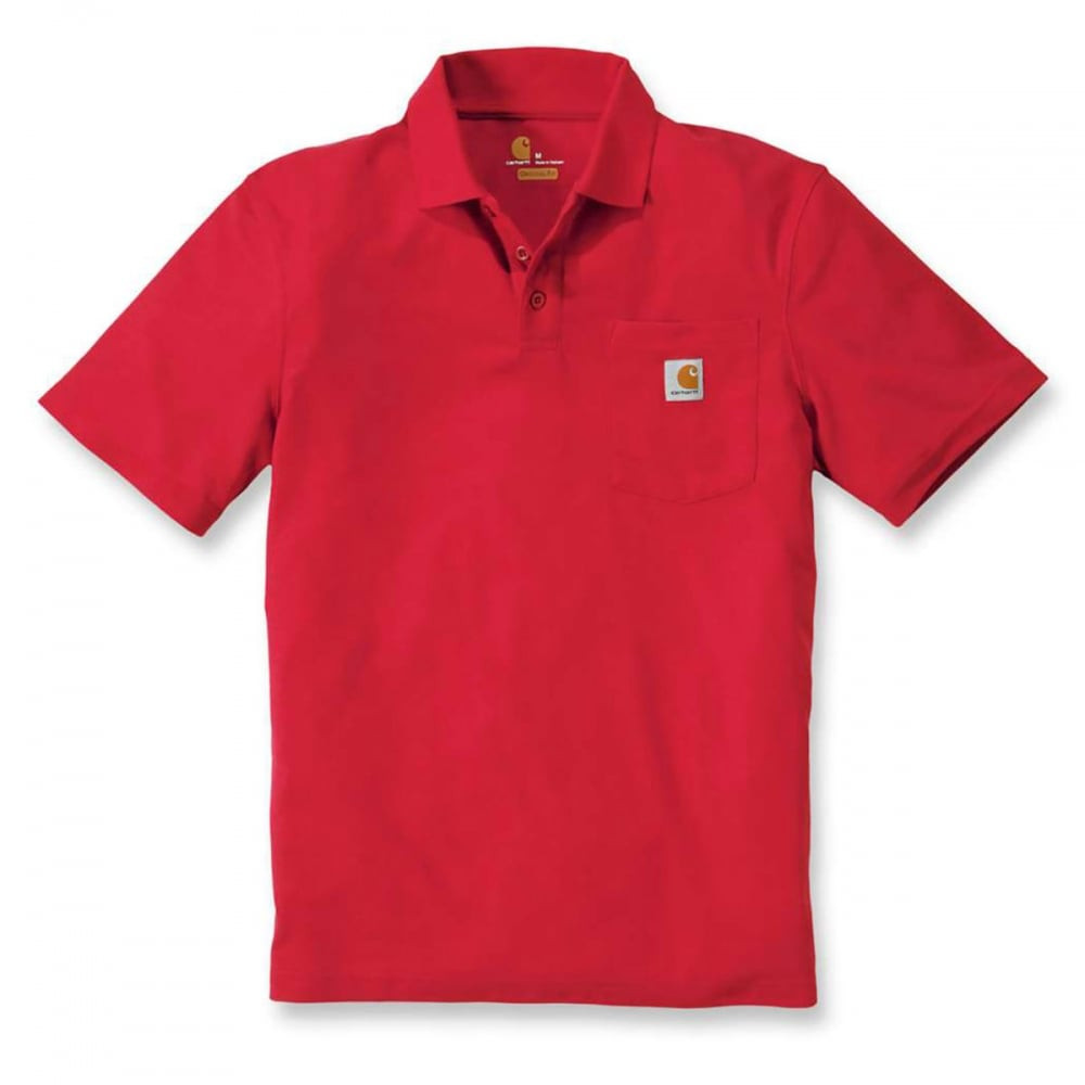Поло Carhartt Work Pocket Polo S/S - K570 (Red, XL)