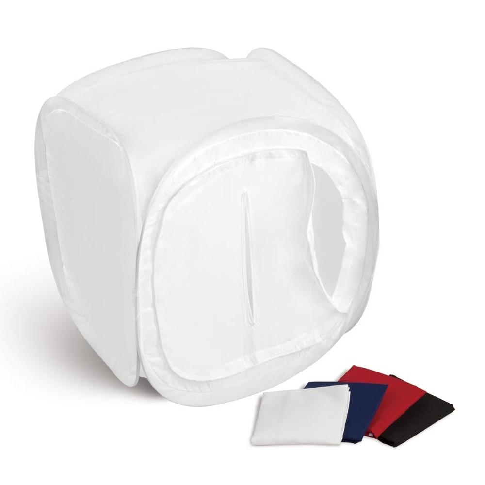 Лайт куб для предметной съемки Mircopro LT-011 120x120x120 см белый с 2 фонами