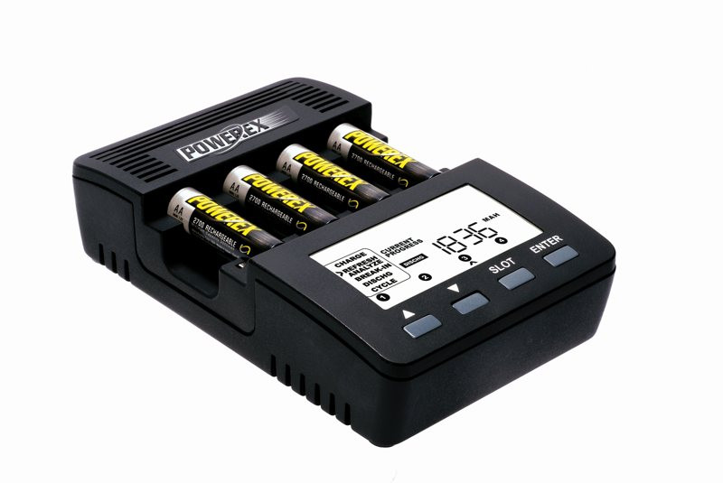 Интеллектуальное зарядное устройство для аккумуляторов AA/AAA Maha Powerex MH-C9000