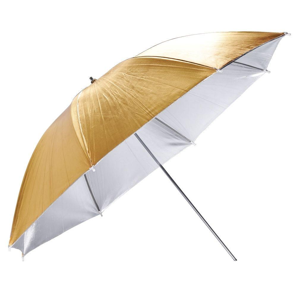 Зонт на отражение Mircopro UB-005G золото,серебро 85 см