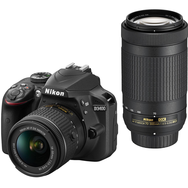 Фотоаппарат Nikon D3400 Double Kit AF-P 18-55 VR + AF-P 70-300 VR